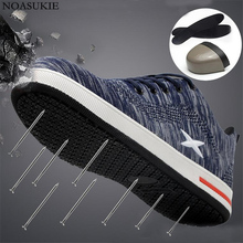 Fashion Sneakers Summer Safety Shoes Of Men Striped Breathable Mesh Casual Work Anti-Smashing Puncture Steel Toe