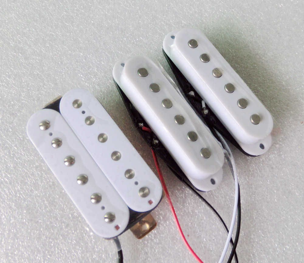Free Shipping guitar parts Black Ivory White SSH guitar pickup High output Alnico electric guitar pickup