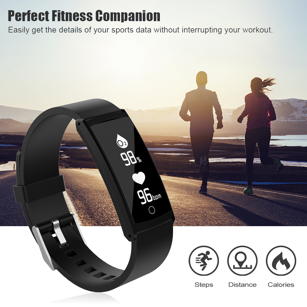 S6 Fitness Tracker Pedometer IP68 Waterproof Blood Oxygen Heart Rate Sleep Monitor Running Sport Step Tracker Counter Watch