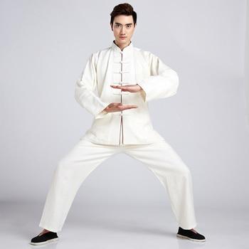 High Quality Chinese Men Cotton Linen Tai Chi Suit Kung fu Uniform  Clothing Shirt&Pant M  L  XL  XXL XXXL 2516-2