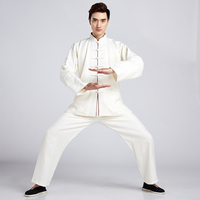 High Quality Chinese Men Cotton Linen Tai Chi Suit Kung fu Uniform Clothing Shirt&Pant M L XL XXL XXXL 2516 2