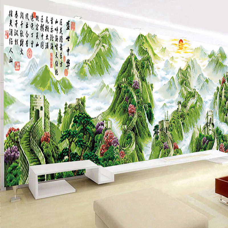 5D special shaped diamond 257*75cm Needlework Diy Diamond painting landscape handwork diamond embroidery Chinese The Great Wall5D special shaped diamond 257*75cm Needlework Diy Diamond painting landscape handwork diamond embroidery Chinese The Great Wall