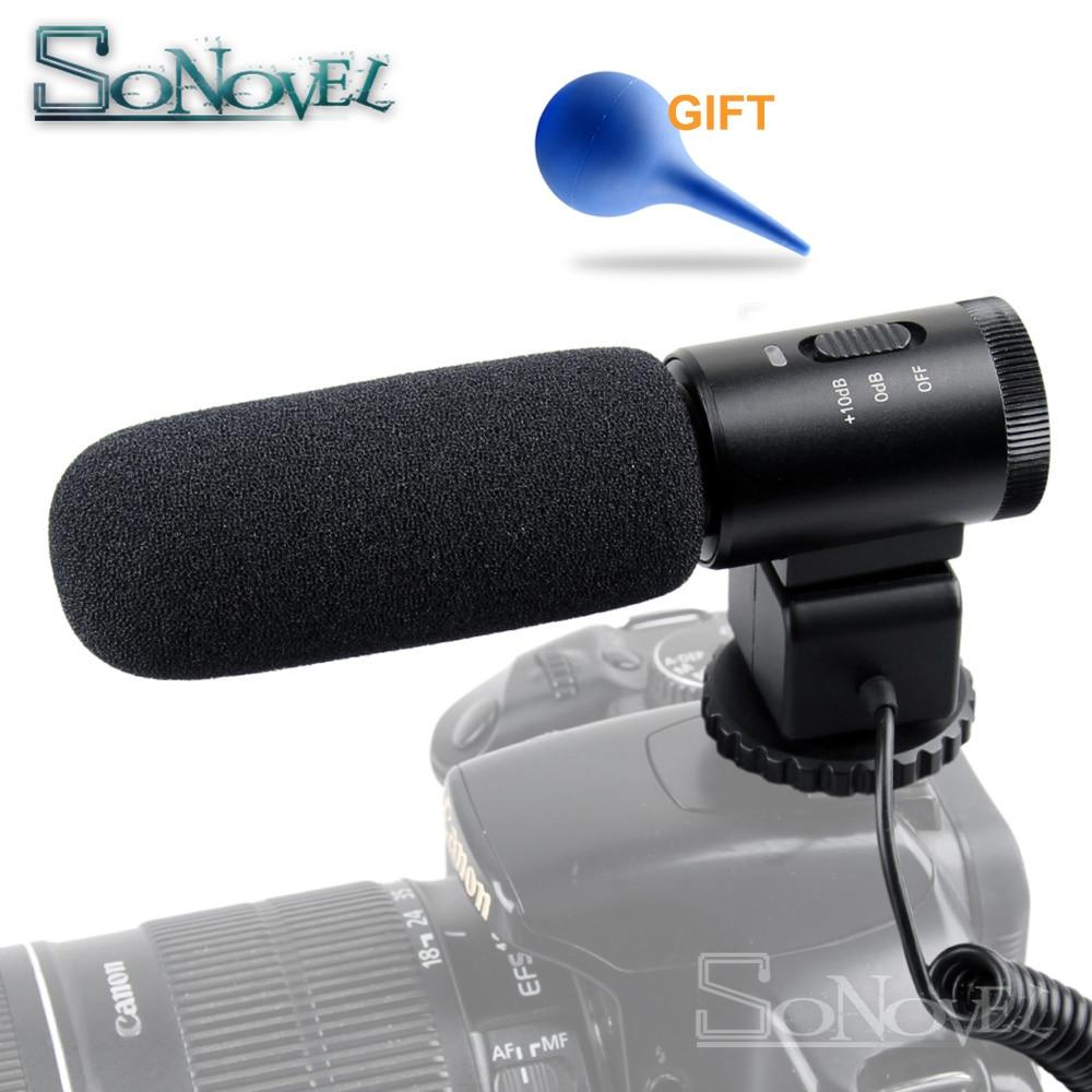 Mic Fotocamera DSLR Microfono Fotografia Professionale Intervista Per Canon EOS M50 M3 M5 M6 800D 760D 750D 77D 80D 5Ds...
