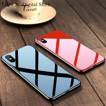 Luxury Plating Tempered Glass Case for iPhone Mirror Glossy Mobile Phone Cover X XR XS Max 10 7 8 6 6s plus Cases