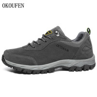 OKOUFEN Men Hiking Shoes New Male Sports Outdoor Trekking Hunting Tourism Mountain Climbing Shoes Sneakers Big Size 39 46