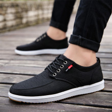 YeddaMavis Black Men Shoes 2019 New Trend Canvas Male Casual Mens Low Board Outwear Flats Breathable Driving