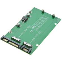 For Macbook 2010 2011 Air A1369 A1370 SSD 2 slots to 2 Port SATA 3.0 Adapter Card as SATA 6Gb/s 22Pin Hard Disk Drive