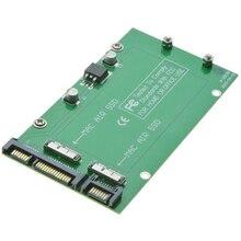 For Macbook 2010 2011 Air A1369 A1370 SSD 2 slots to 2 Port SATA 3.0 Adapter Card as SATA 6Gb/s 22Pin Hard Disk Drive