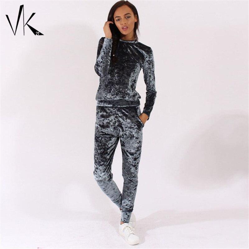 Aliexpress.com  Buy 2 Piece Velvet Jumpsuit Women Two Piece Outfits 2016 Winter Jumpsuit Romper ...