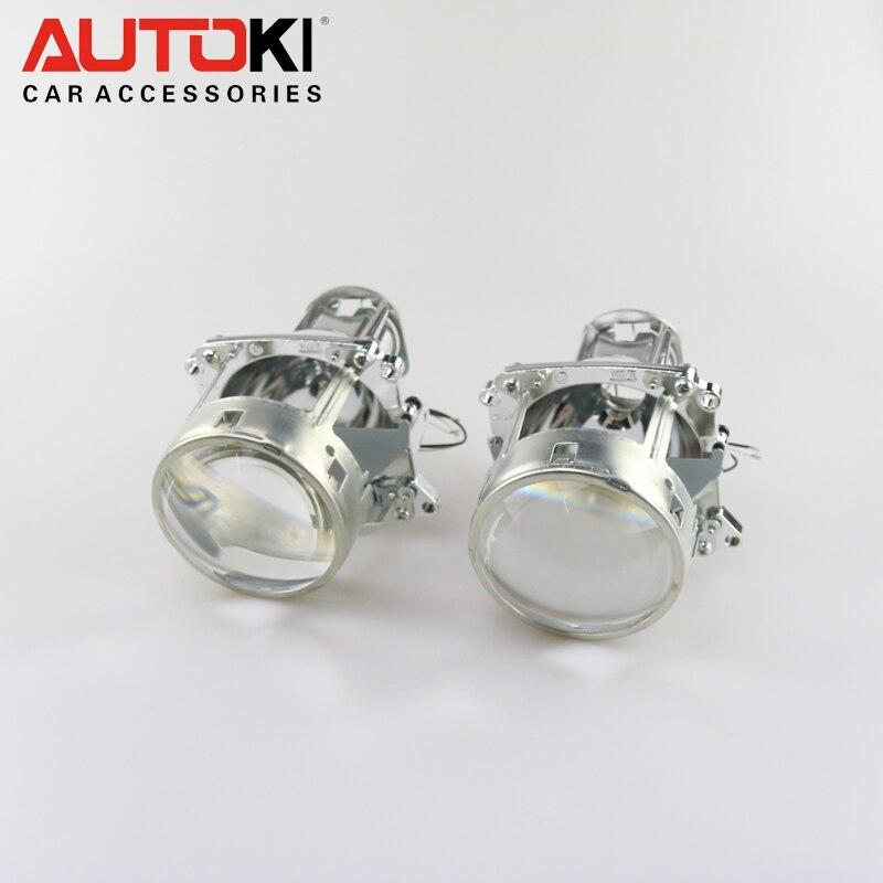 Livraison Gratuite Autoki 3.0 pouces Bos-ch E46 H7 bi-xénon Projecteur Lentille de Remplacement pour BMW E46 Utiliser H7 ampoule - 2