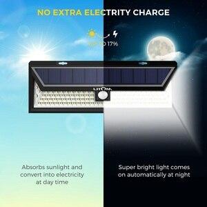 Image 2 - 4 Pack LITOM 102 LED Drahtlose Solar Lichter Outdoor Garten Helle Motion Sensor Sicherheit Lichter Wasserdichte IP65 heißer Luces Solares
