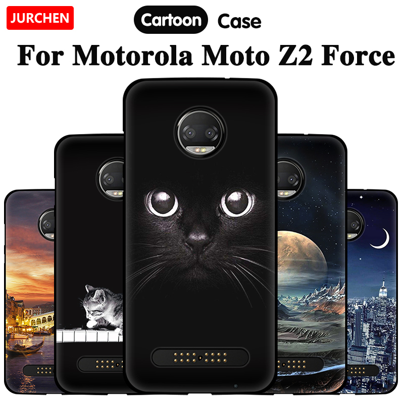 Cute Cartoon Phone Case For Motorola Moto Z2 Force Case TPU Soft Silicone Back Cover For Motorola Moto Z2 Force Case