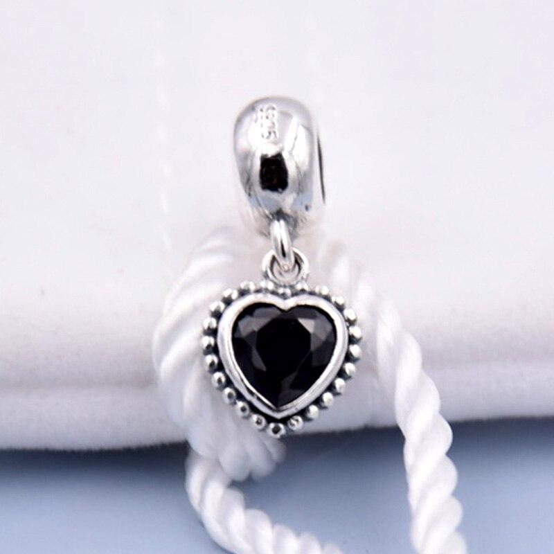 clip pandora cuore nero