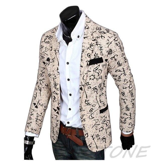 2016 Стильная Мужская Повседневная Slim Fit три Кнопки Костюм Blazer Куртки Пальто И Пиджаки