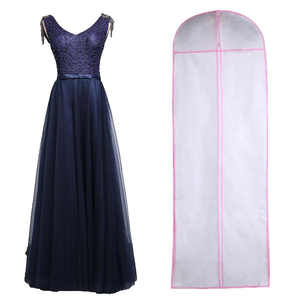 CC Non-woven Fabric Wedding Dress Gown Dustproof Cover Bridal Garment Storage Bag Long Clothes Protector Case
