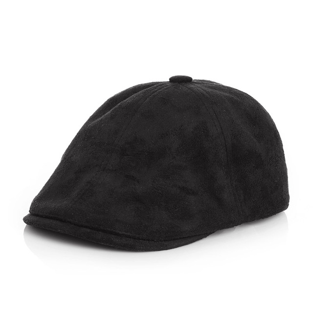 Niños sólido sombrero de la boina para niños niñas invierno Felt Cap  Casquette niños plana ajustable 138ab0c2377