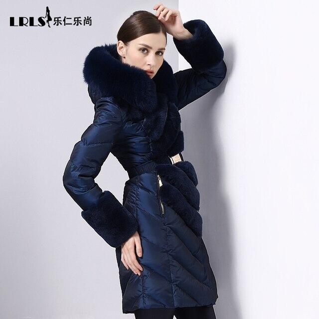 High quality luxury Royalcat 2016 Winter Jacket Women down jackets fox fur coats long down Coat women's thicken slim Outerwear