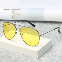 Aviation Night Vision Yellow Sunglasses Men Women Goggles Glasses UV400 Sun Glasses Driver Night Driving Eyewear