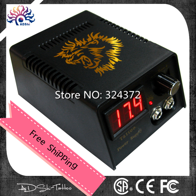 Free Shipping Professional Digital LCD Display Tattoo Power Supply  For Tattoo Machine Tattoo Gun  110v-230v  High  Quality intelligent automaticly lcd digital display lux meter free shipping