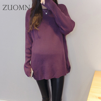 Hot Sale Pregnant Women Sweater Edition Dress Sweater Of Loose Big Yard Maternity Sweater Dresses Loose