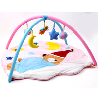Baby Sleeping Bear Bag Musical Play Mats With Toys Kids Play Mat Children Carpet Crawling Educational