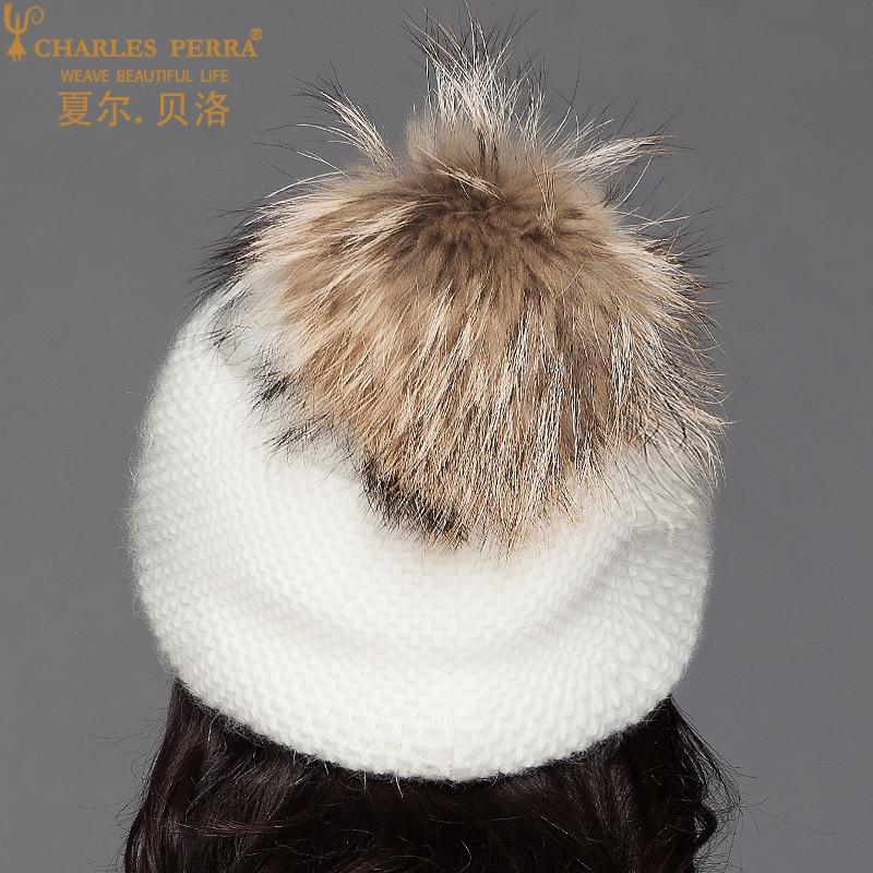 Charles Perra Ženske kape od vunene pletene kapute s velikim - Pribor za odjeću - Foto 5