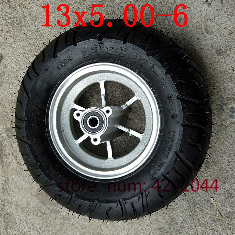 Good quality 13x5 00 6 tire wheels 13x5 00 6 Tubeless tyre with 6 inch alloy