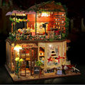"""DIY Wooden Doll House with Furniture,Funny  """"Rui Ya Time"""" Dollhouse Miniature Toys for Kid's Birthday Gift"""