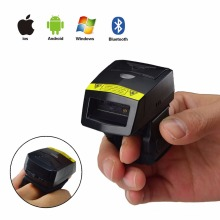 NEW Bluetooth Barcode Scanner FS02 Wearable Ring 2D Laser USB Li-ion Battery For Windows Mac IOS Android Mobile