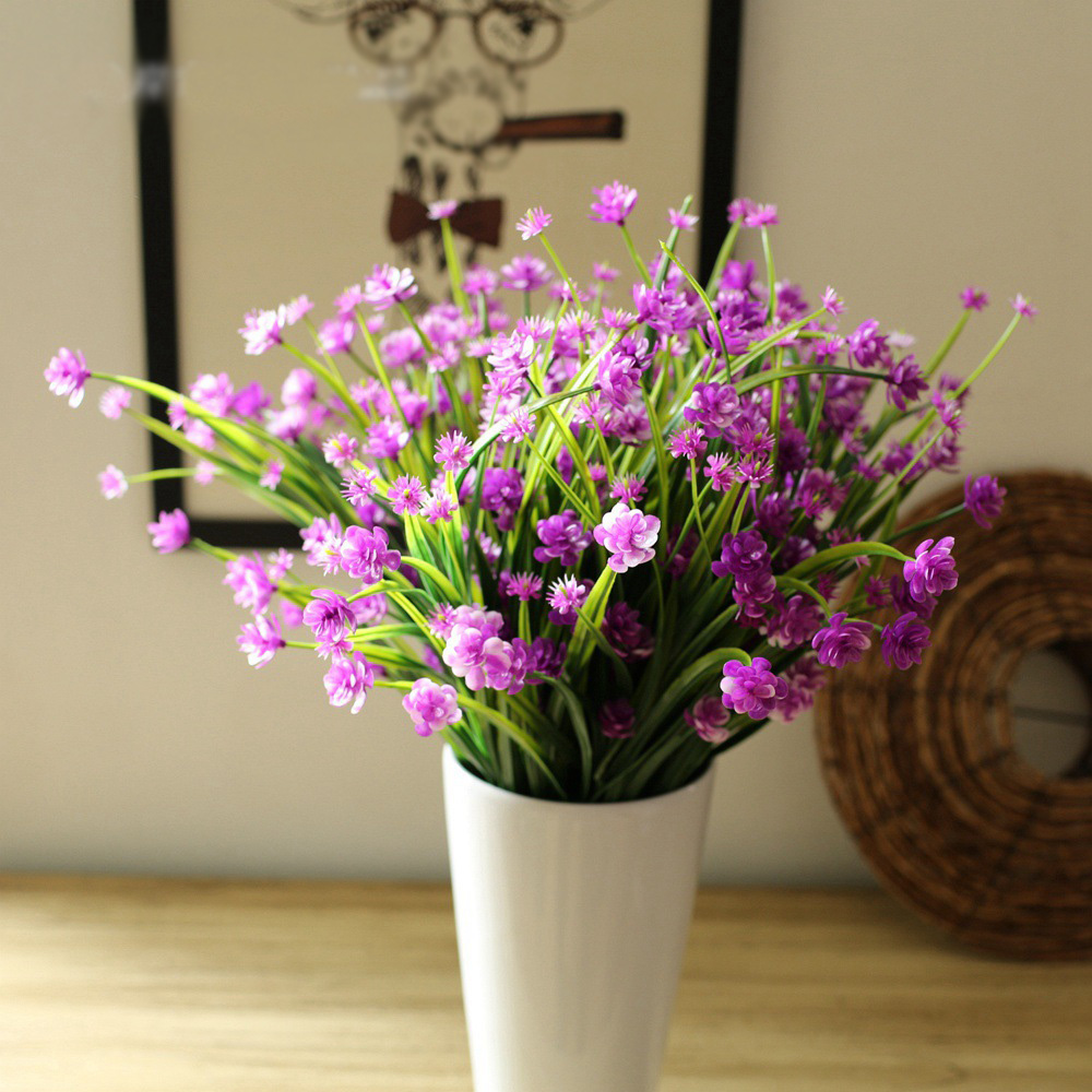 5 colours 1pc plastic primrose artificial plant plastic for Artificial flowers decoration for home