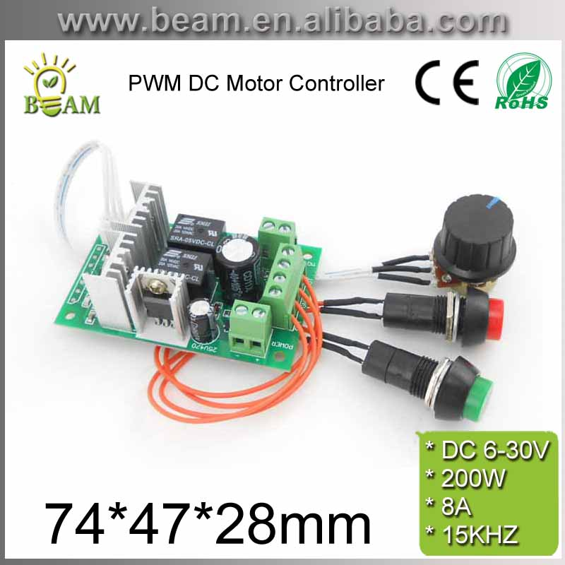 PWM DC Motor Controller 6V12V 24V Electric Drive Pusher Linear Actuator Motor Speed Regulator with Button