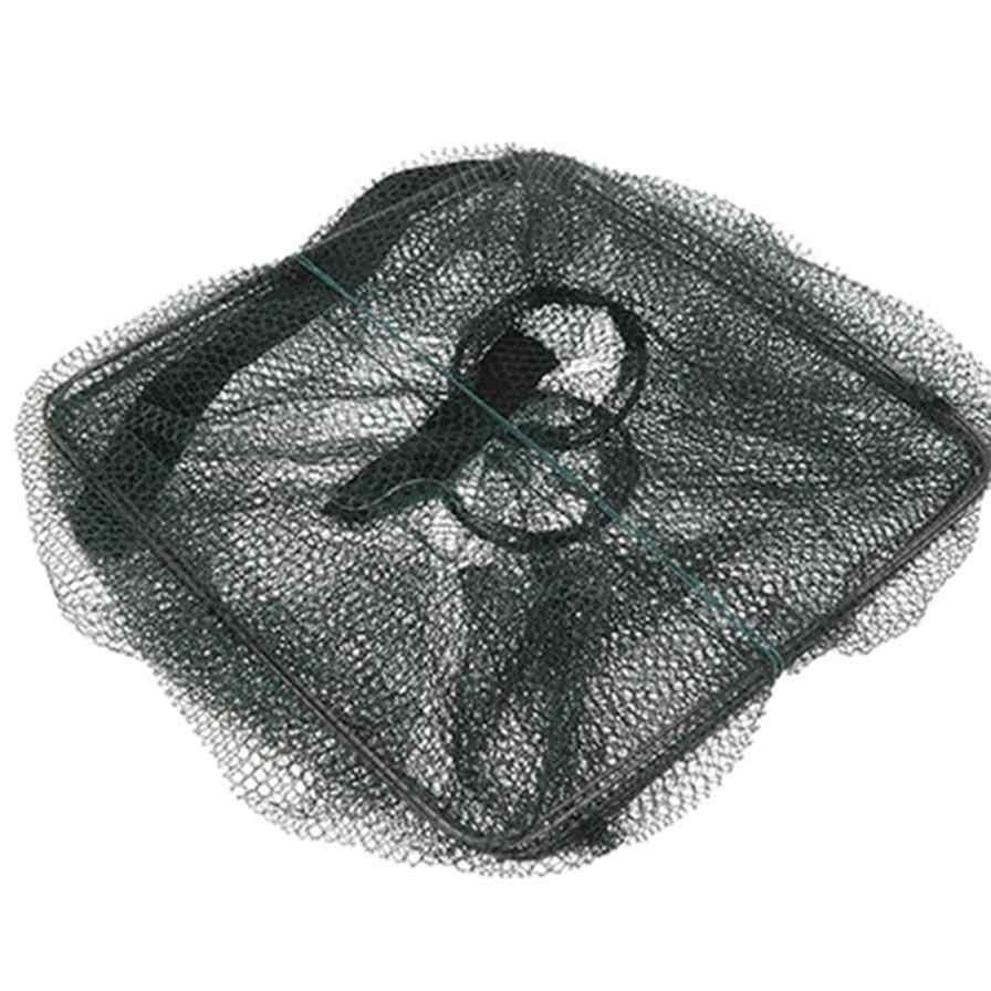 Nova Dobrável Peixe Carpa Isca de Pesca de Camarão Gaiola Gaiola de Ferro Fundido para a Imersão Cesta Catcher Armadilha Tanque China Gaiolas de Malha Barato