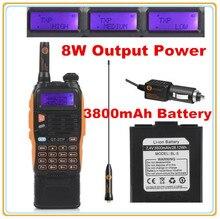 3800 мАч батареи baofeng gt-3tp markiii 8 Вт dual band v/uhf хэм двусторонней радиосвязи walkie talkie трансивер