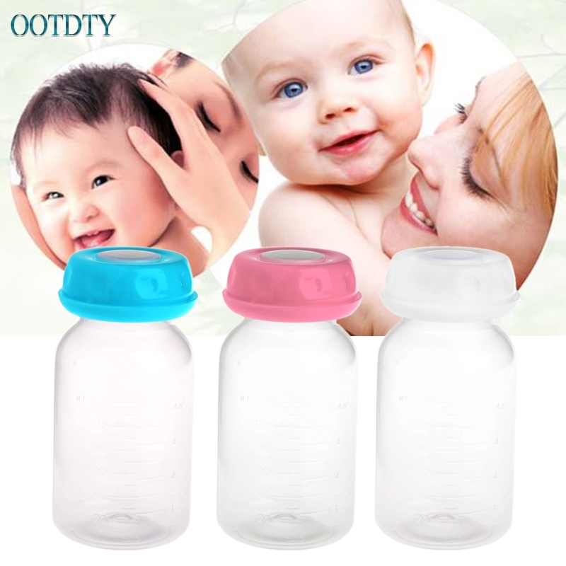1PC Baby 125ML Breast Milk Feed Bottles Collection Storage Neck Wide Storage Bottle APR20