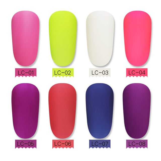 LILYCUTE Matte Top Coat Color UV Gel