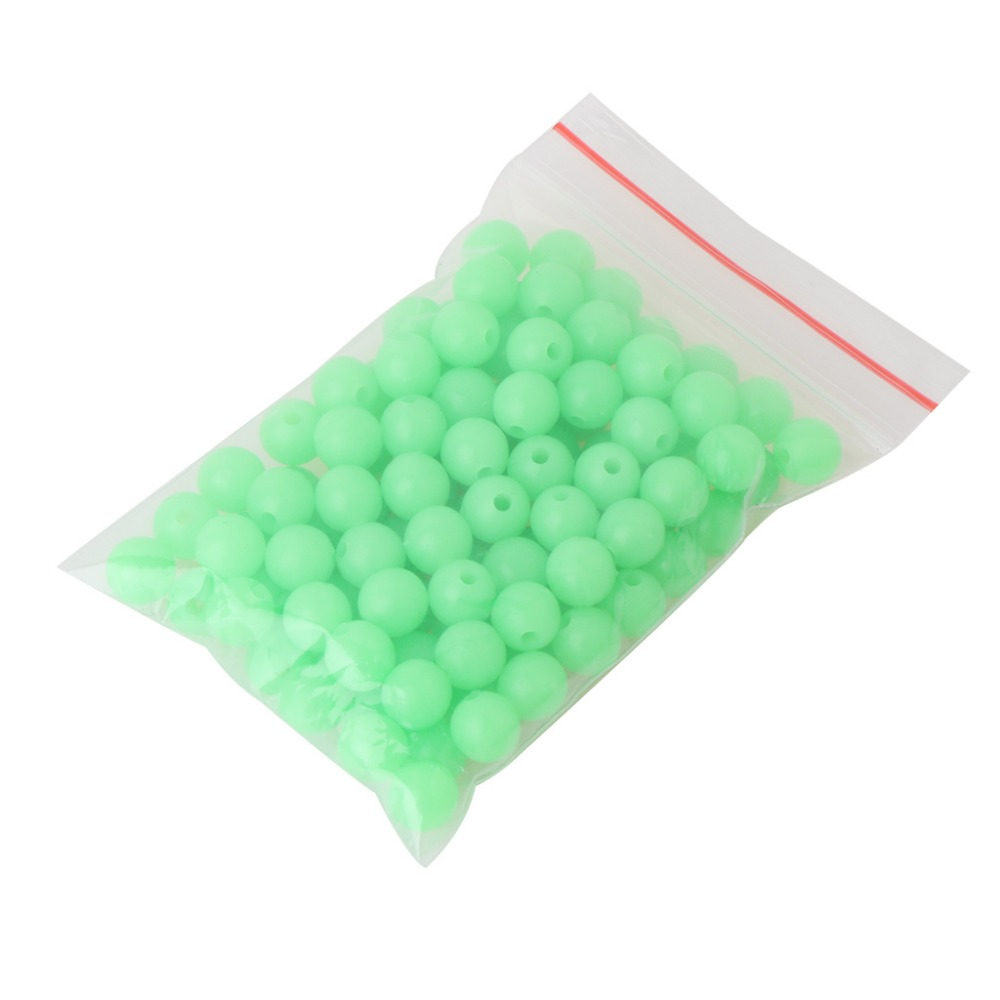 100 Pcs//Bag Fishing Beads Night Luminous Plastic Float Tackle Stoppers Glow Sea