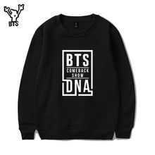 BTS 2017 Hit song DNA hoodies Sweatshirts men/women Bangtan boys Love Yourself outwear Hip-Hop Kpop plus size Clothes xxxxl(China)