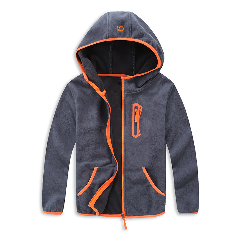 Spring And Autumn Trendy Boys Sport Hooded Jacket Kids Outerwear Fall 2017 New Arrival Kids Polar Fleece Soft Shell Clothing(China)