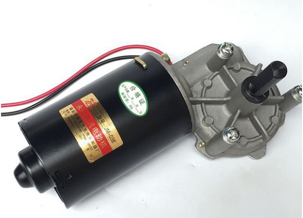 Moteur à vis sans fin autobloquant 12 v DC décélération moteur 80 w pousser 80 kg cuivre Turbo DC réducteur cuivre turbine obturateur