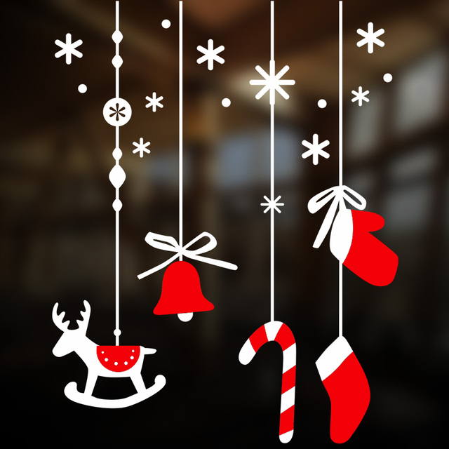 Цвет Мило Личности Игрушки Оригинальность Наклейки Рождественский Колокольчик Олень Стекла Ecoration Наклейки Украсить детские Подарки