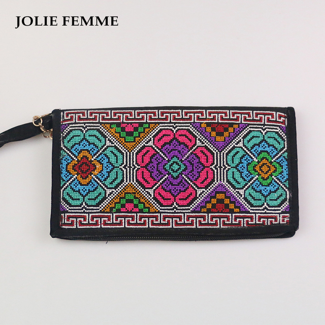 Jolie Femme Women Wallet Canvas Boho Ethnic Handbag Handmade Handbags Purses Tribal Vintage Bag