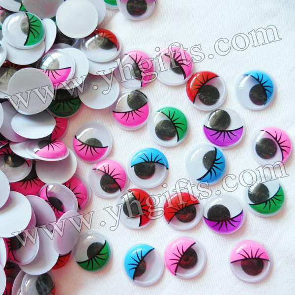 2000PCS/LOT,2cm colorful eyelash wiggle eyes,Plastic eyeball,Doll eyes,Craft material Ha ...