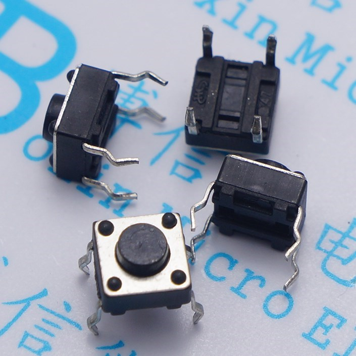100pcs 6*6*5mm Light touch switch DIP4 ON/OFF Touch button Touch micro switch 6*6*5 keys button DIP 4pin 6x6x5 High quality moc3063 dip 6