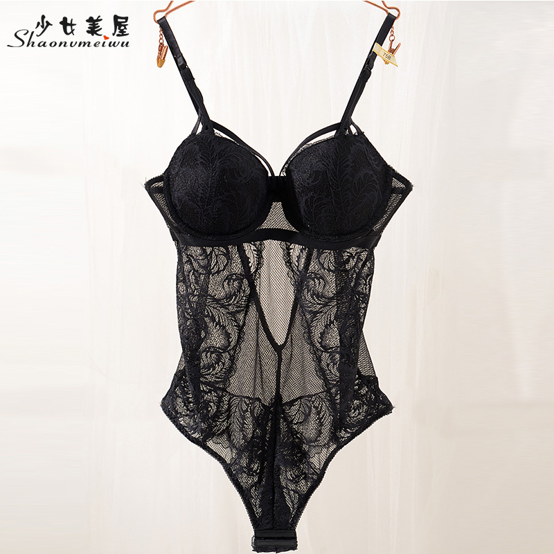 Shaonvmeiwu Sexy Lace Slim Body Net Gauze See-through Seduction See-through Underwear Women Thin Money Gather