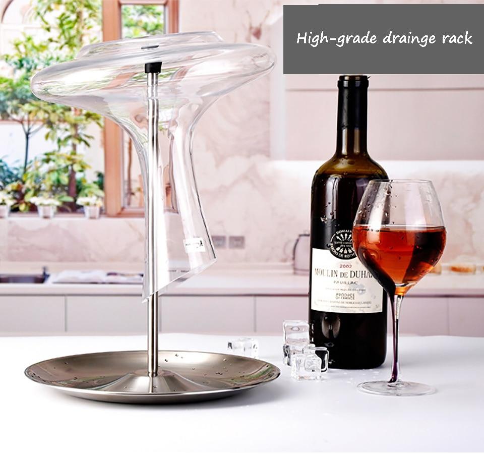 Metal Wine Glass Holder Rack Tree Display 6 Cups MyLifeUNIT Wine Glass Rack Stand