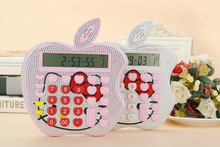 2016 New 12 digit pink cute hello kitty Apple calculator wholesale calculator no voice cute solar calculator