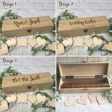Madera personalizada boda clasica campestre libro de invitados alternativa gota en caja de deseos cumpleaños baby shower Drop top box libro de visitas