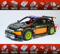 New MOC RC tracked Hatchback Type R MOC 6604 fit legoings technic motor power function Building Blocks Bricks Toy Model gift kid
