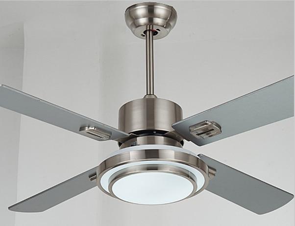 Luz ventilador de techo de acero inoxidable con hoja de madera de 42 luz ventilador de techo de acero inoxidable con hoja de madera de 42 52 pulgadas ventilador aloadofball Images