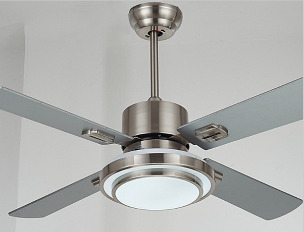 Stainless steel ceiling fan light with wood blade 42 52 inches stainless steel ceiling fan light with wood blade 42 52 inches ceiling fan with lights aloadofball Images
